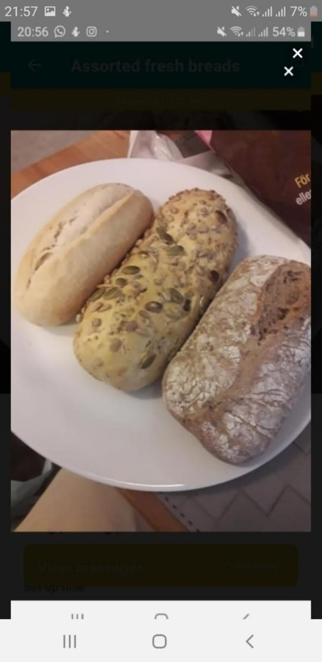 3 various breads