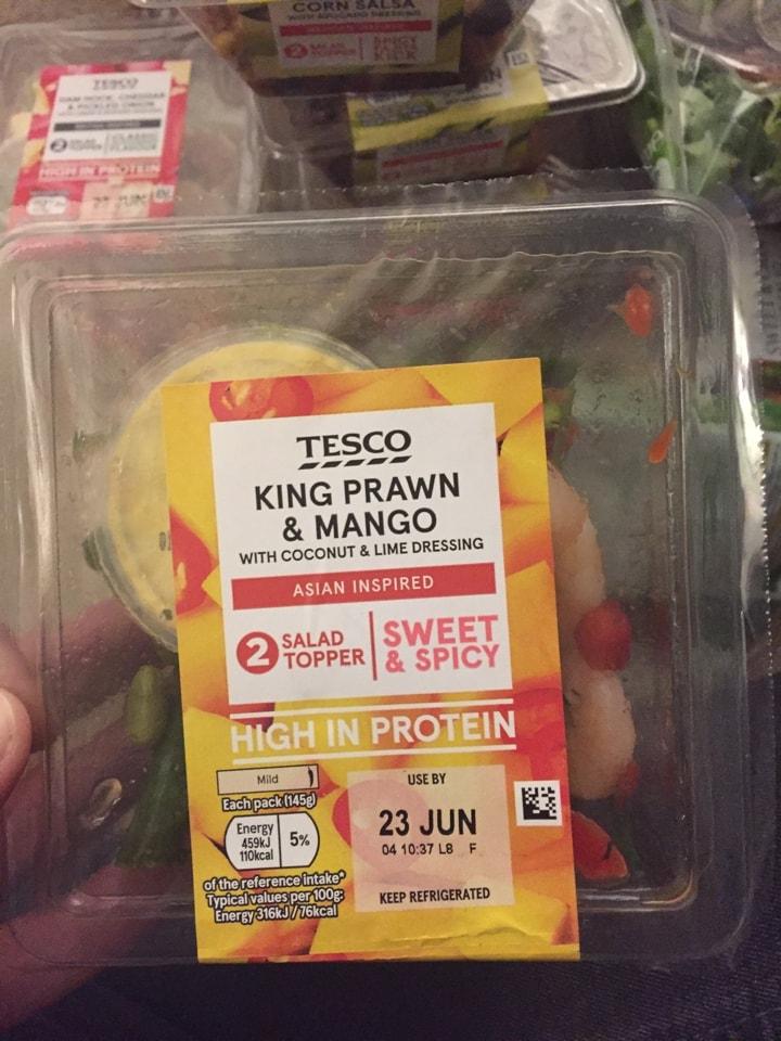 King prawn and mango salad