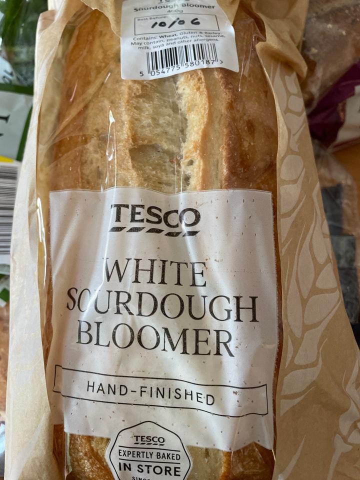 Tesco white sour dough bloomer