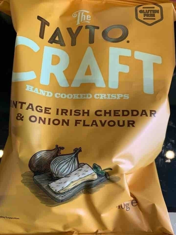 Tay to cheese and onion flavour crisps