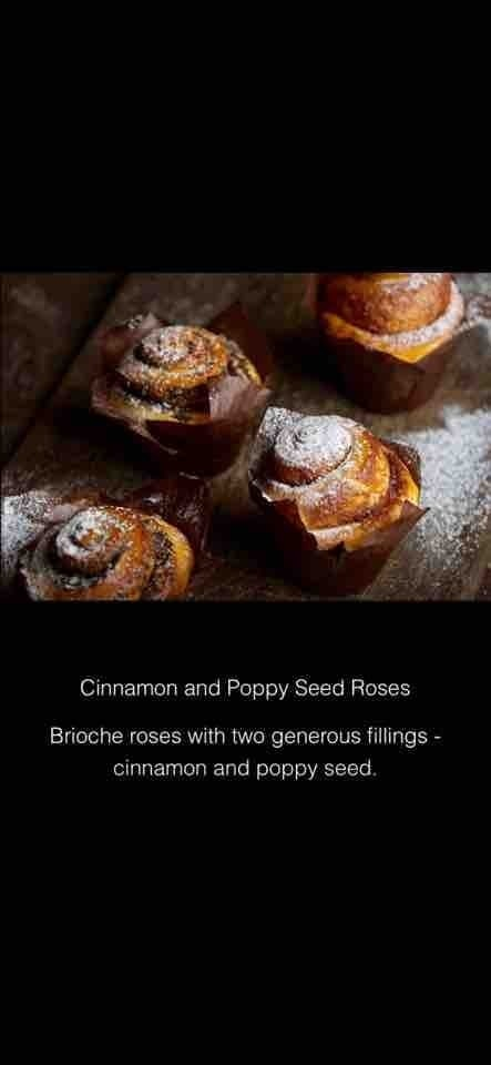 Cinnamon and poppy seed roses from karaway bakery