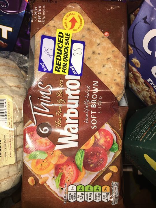 Warburtons wholemeal thins