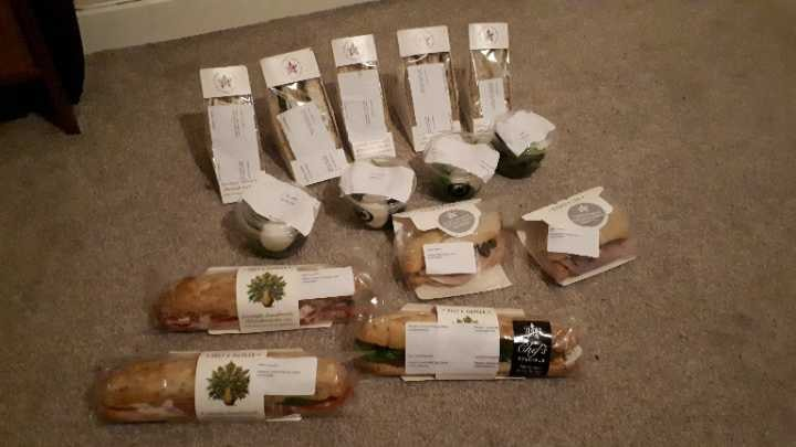 Food from Pret today
