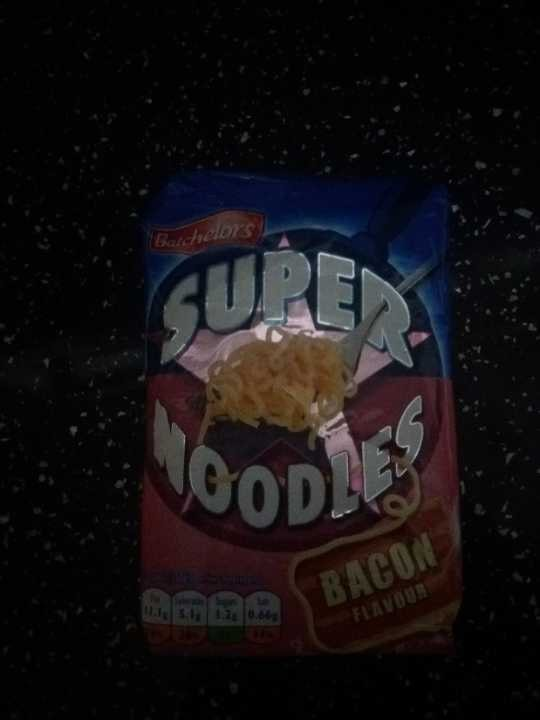 Bacon flavour super noodles