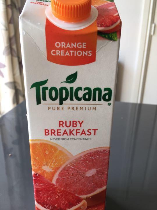 Refrigerated ruby breakfast juice x 10