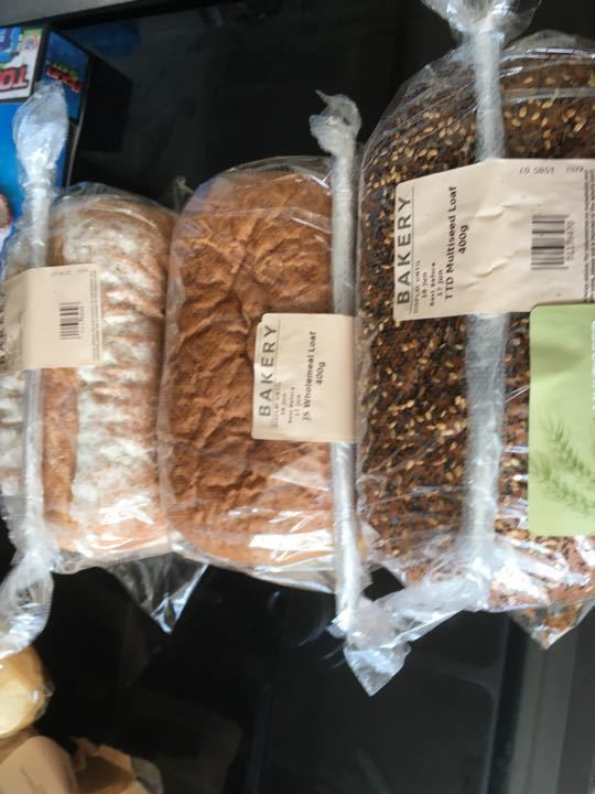 1x multi seed 1x wholemeal 1x white loaf 400g