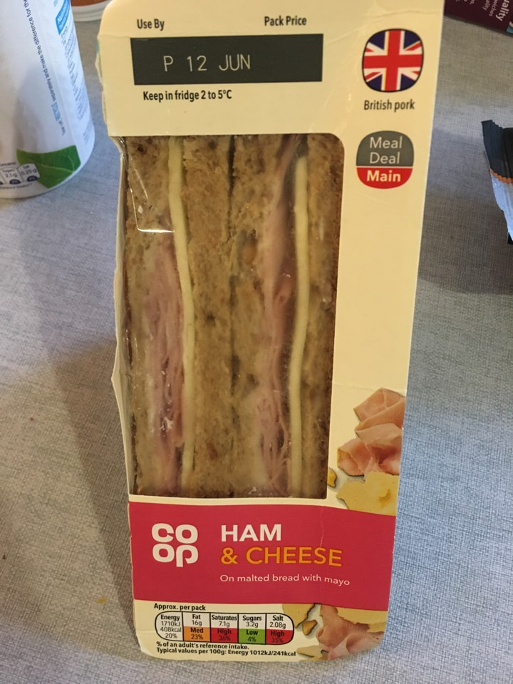 Ham and cheese sandwich 🥪 MUST BE COLLECTED TONIGHT