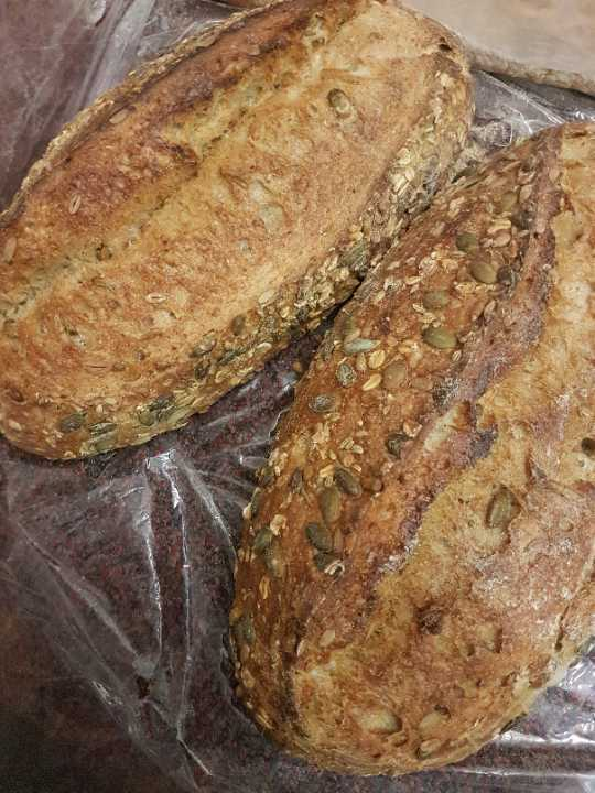 Seeded artisan bread
