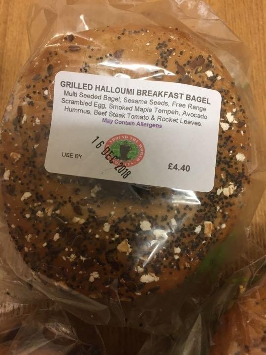 Halloumi breakfast bagel