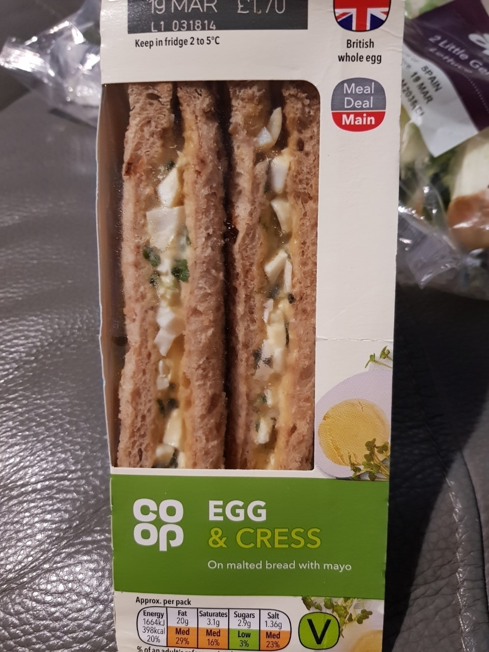 Egg and cress- must collect tonight before 10.30pm