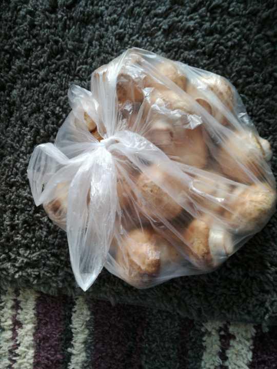 Bag loose mushrooms