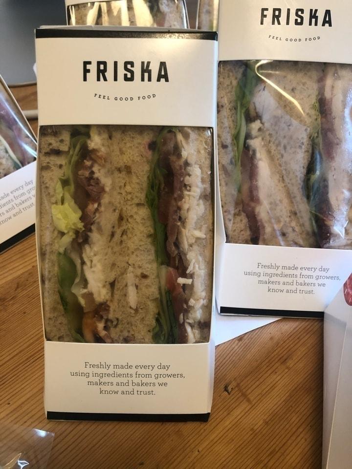 Friska chicken christmas sandwiches
