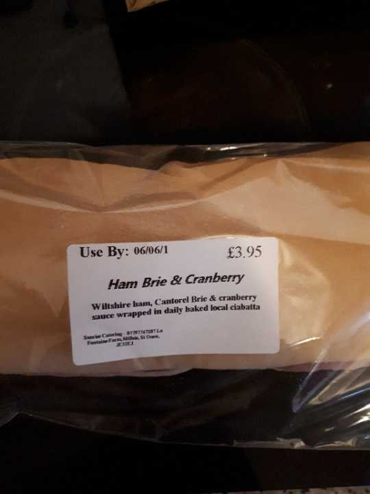 Ham, Brie and Cranberry Ciabatta