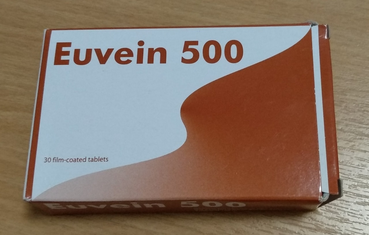 Medicine - Euvein 500 for nocturnal cramps/ piles (Expiry: May 2020)