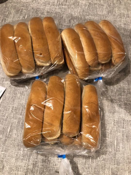24 hot dog rolls still sealed