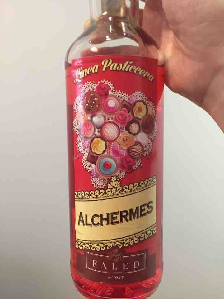 Alchermes liquor for pastry (used) 21% alcoholic content