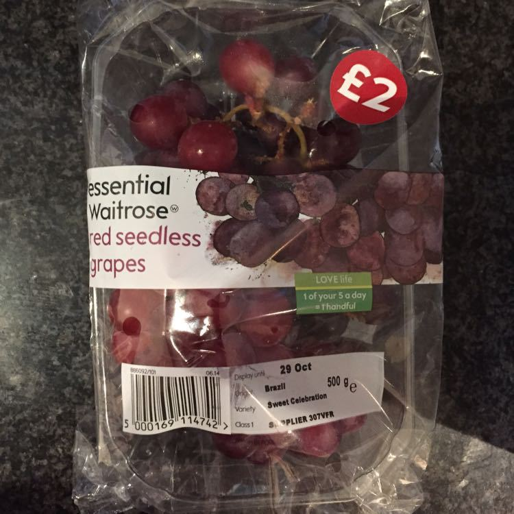 Red Seedless Grapes (unopened)