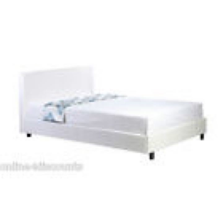 Super King Size Faux Leather Bed Frame- boxed
