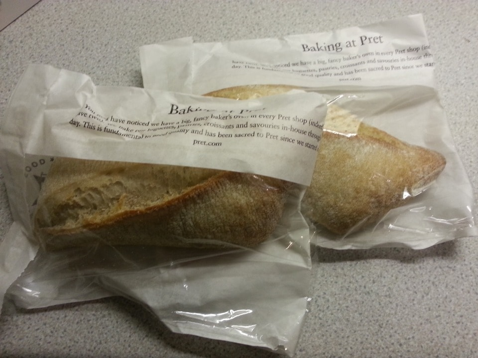Pret delicious stone baked losange soup baguette, from Saturday evening collection