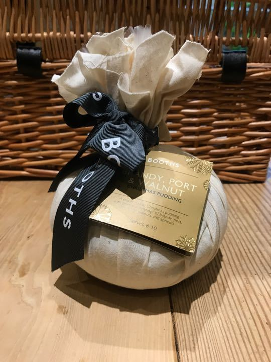 Booths luxury brandy port and walnut Christmas pudding