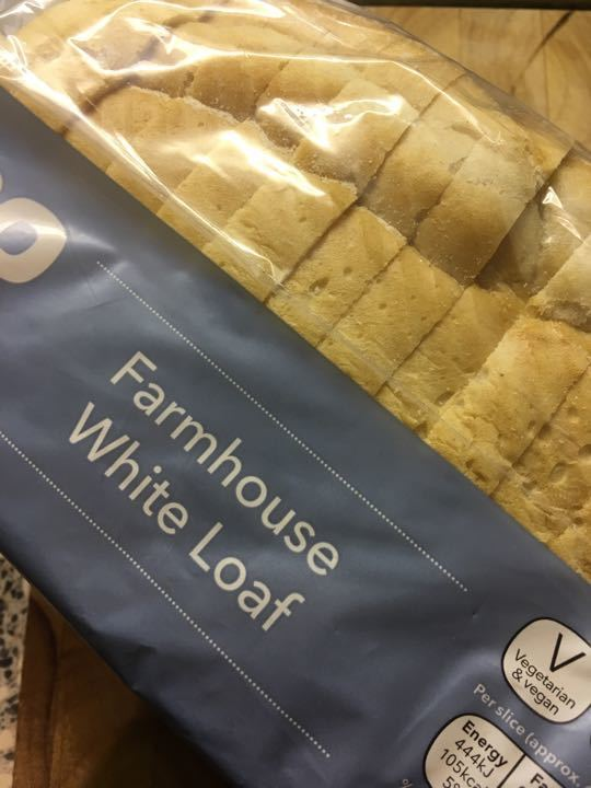 White farmhouse sliced