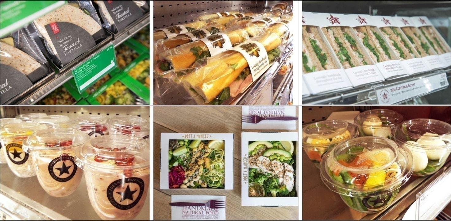 Pret sandwiches. SF Wednesday 20:30