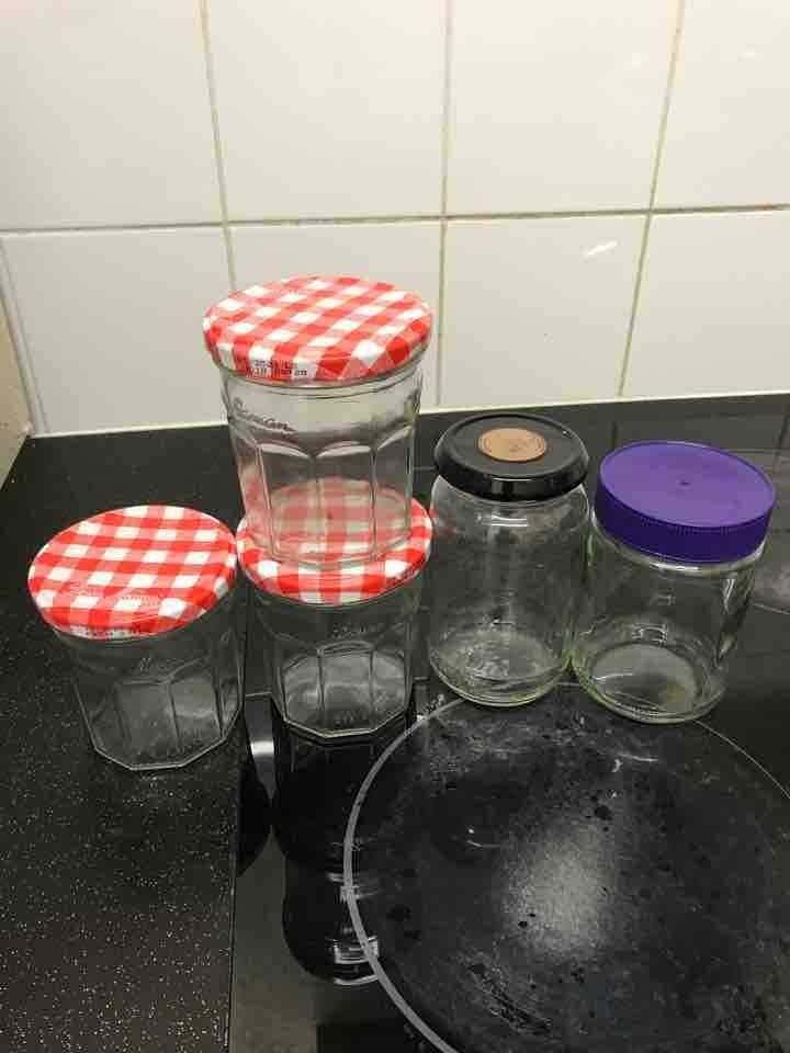 Clean, empty jars