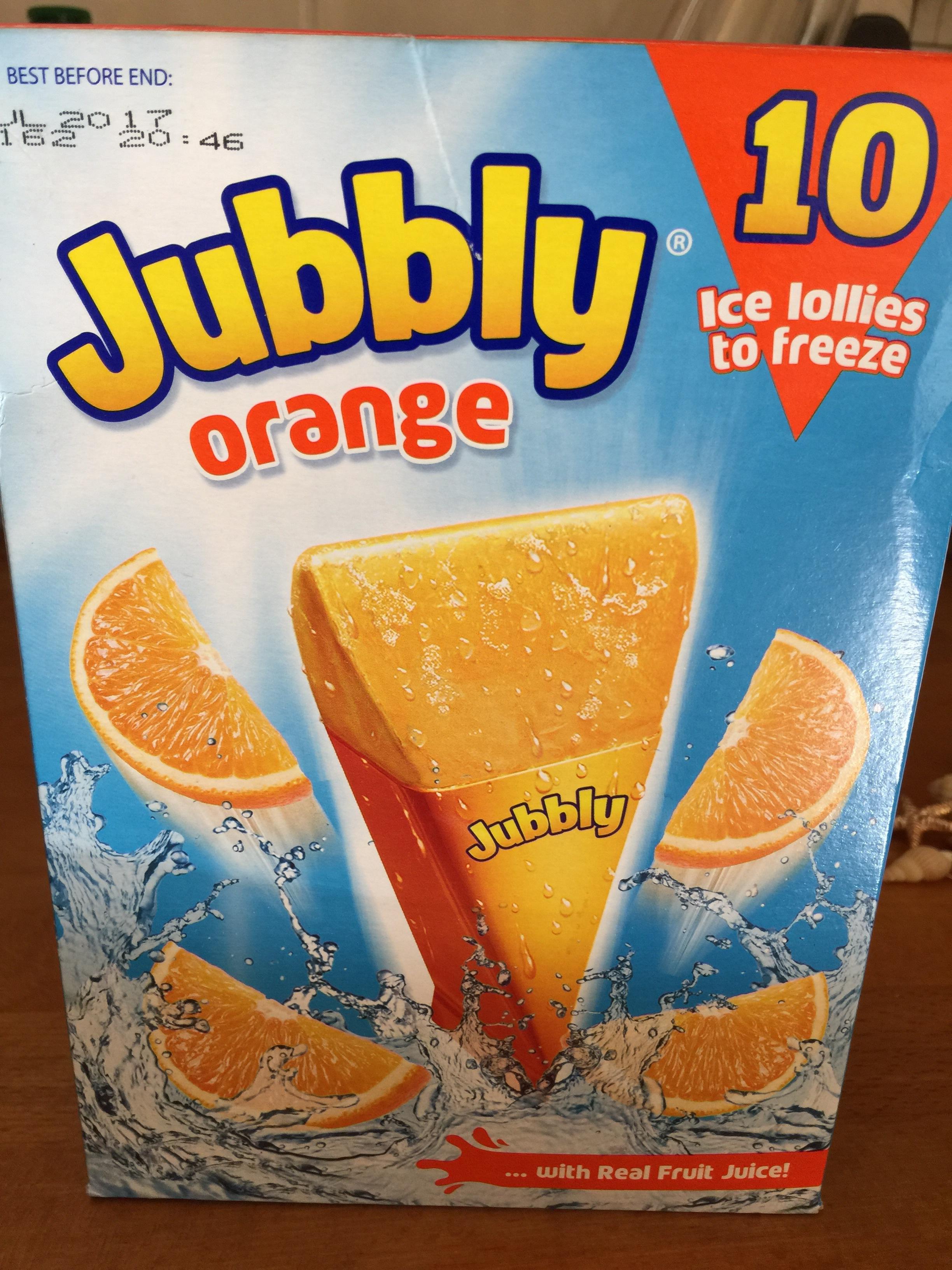 Orange ice lollies unopened packet of 10