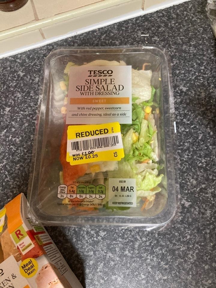 Side  salad (Tesco rescue)