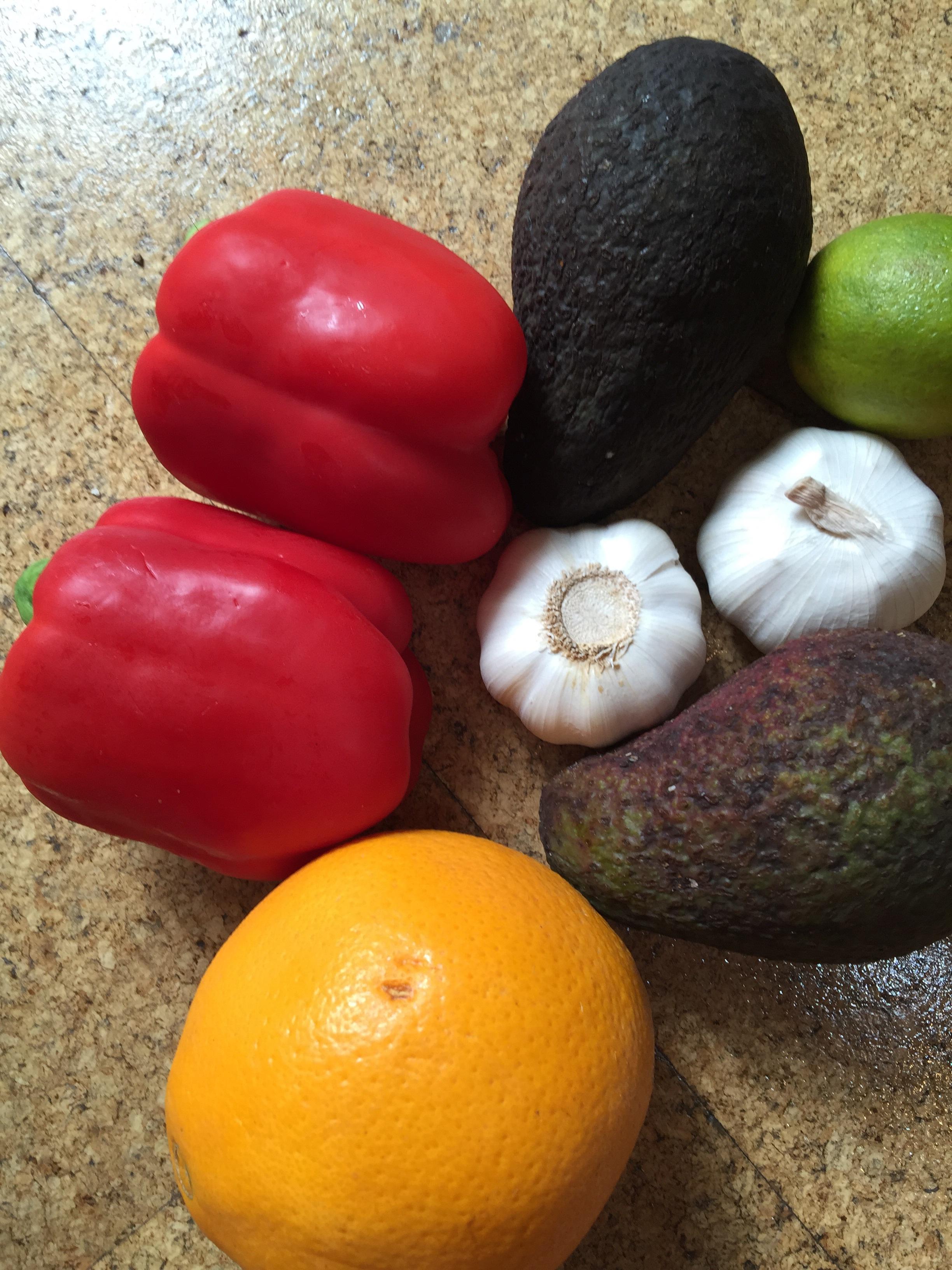 Various fruit and veg