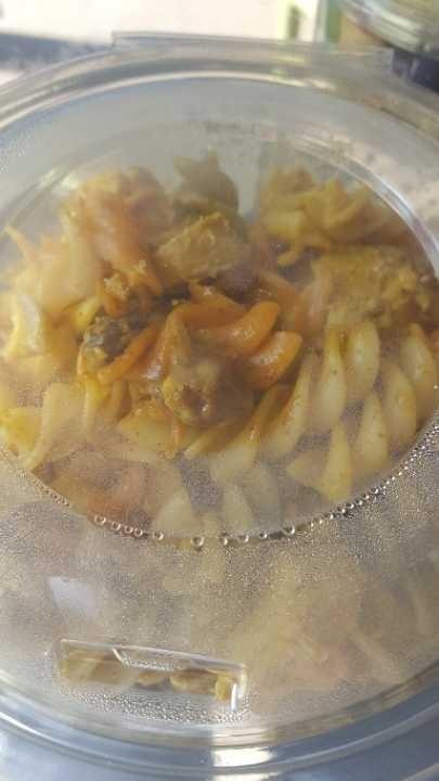 Corontation chicken pasta