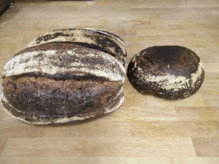3 levain, 1 wholewheat