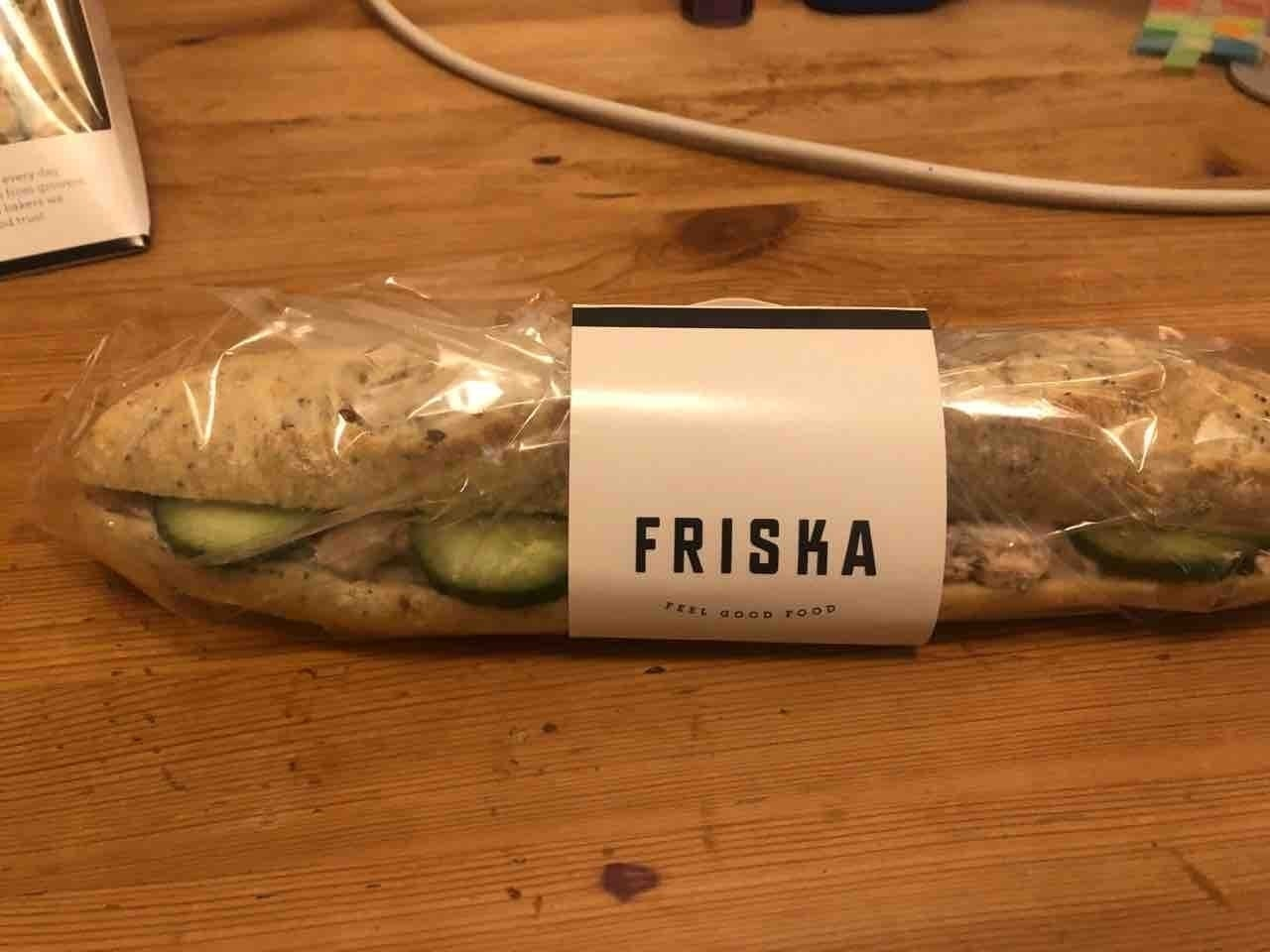 Friska tuna and caper baguette