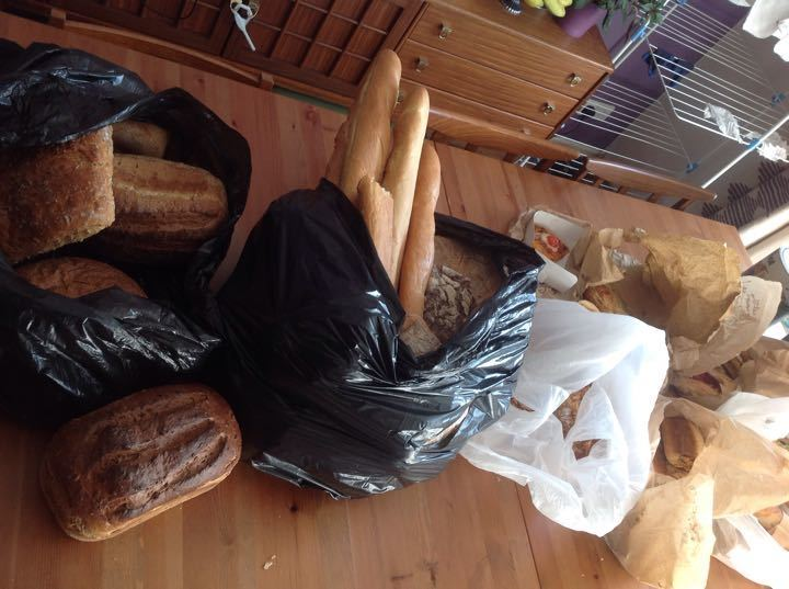 Bread, sandwiches, pastries from tonight's bakery collection