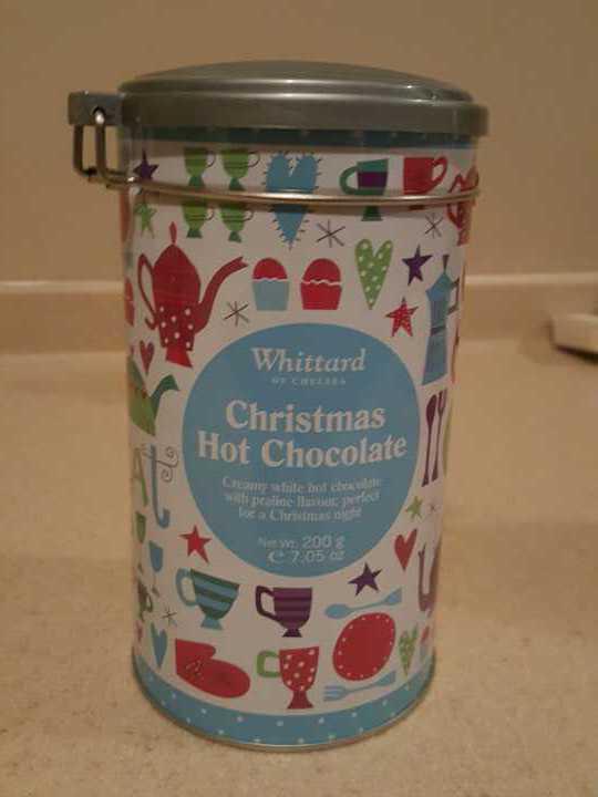 Whittard Christmas white hot chocolate plus tin opened