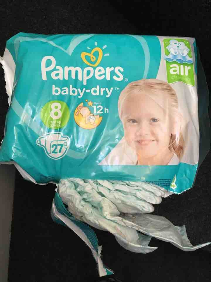 Pampers Baby Dry nappies size 8