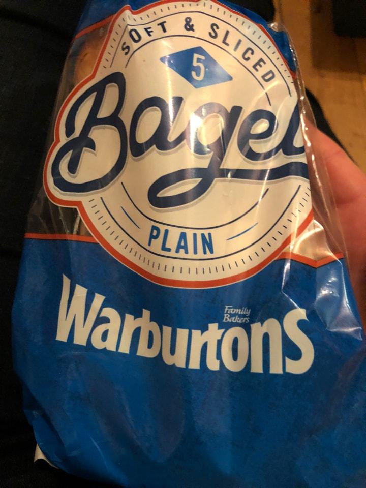 Tesco- 5 pack of warburtons plain bagels