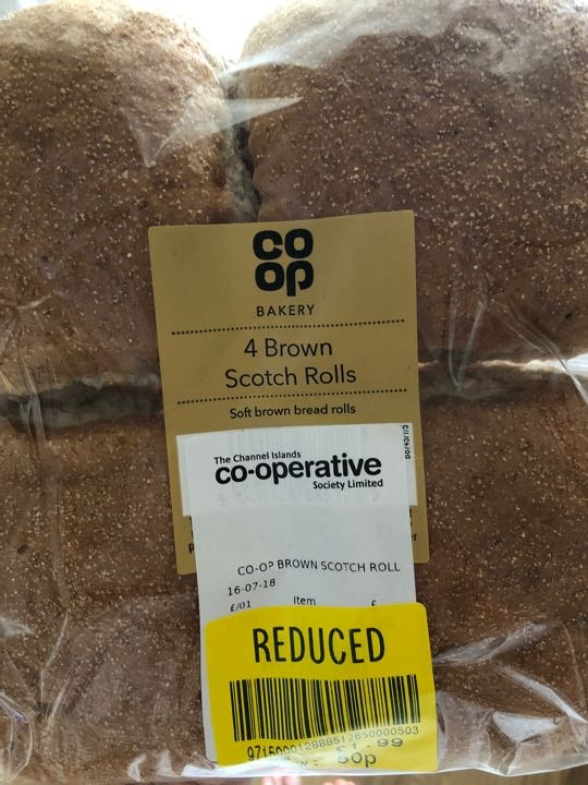 Brown scotch rolls