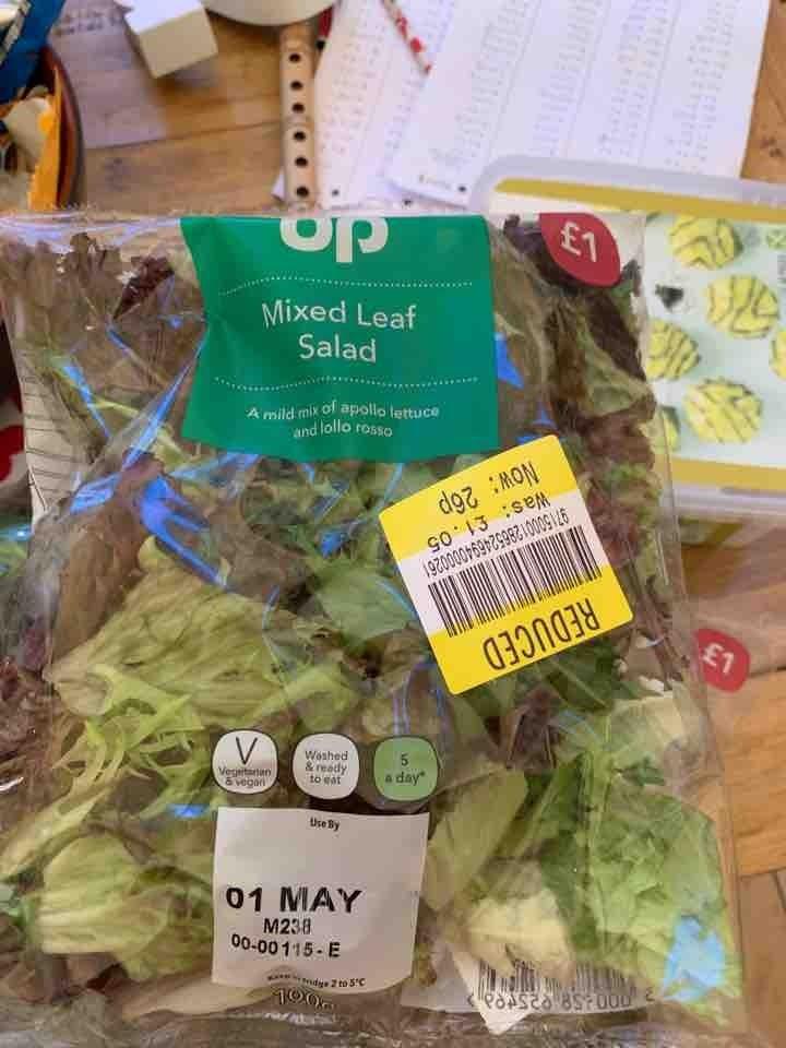 Mixed leaf bag of salad
