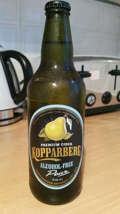 Alcohol free Kopparberg pear.