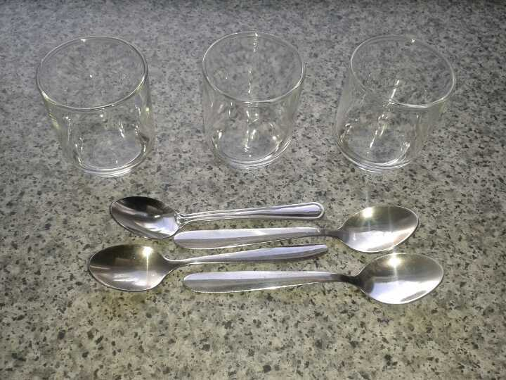 Little glasses and little spoons