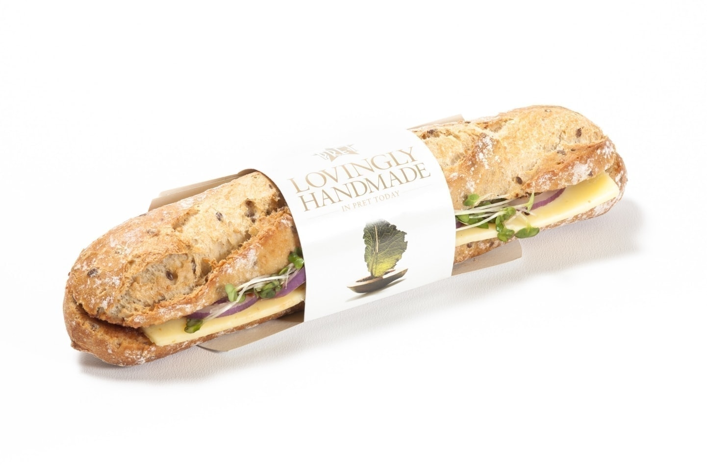 PRET posh cheese and pickle baguette
