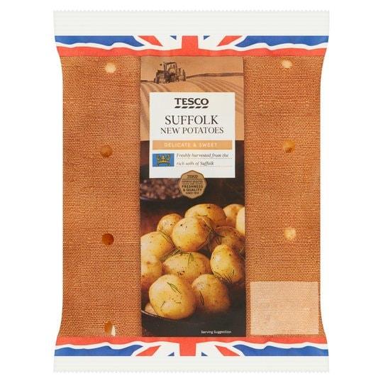 Tesco Suffolk new potatoes