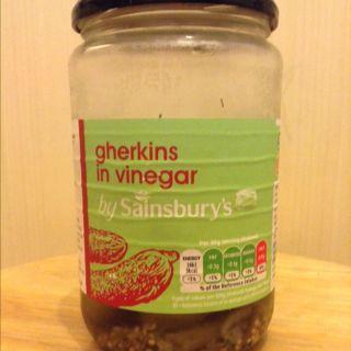 Gherkins in vinegar by Sainsburys