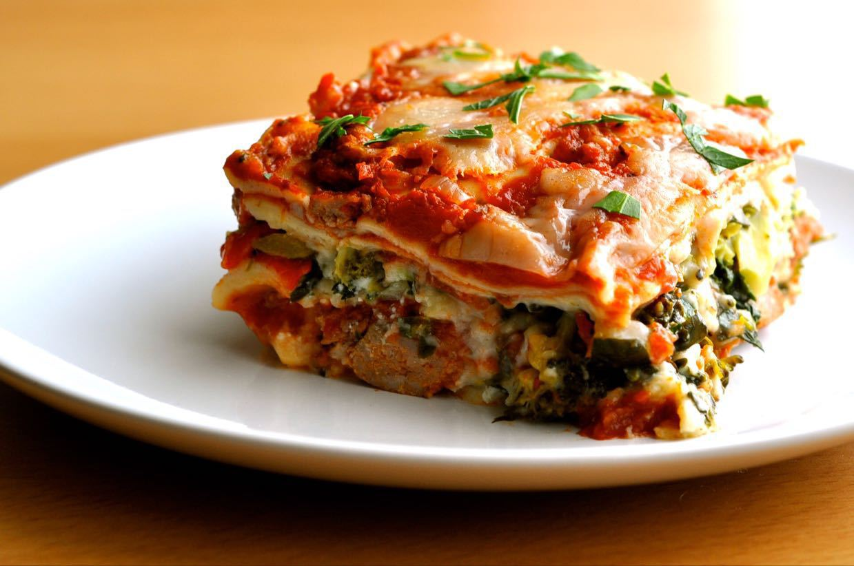 Made to order Veggie Eggplant Lasagne