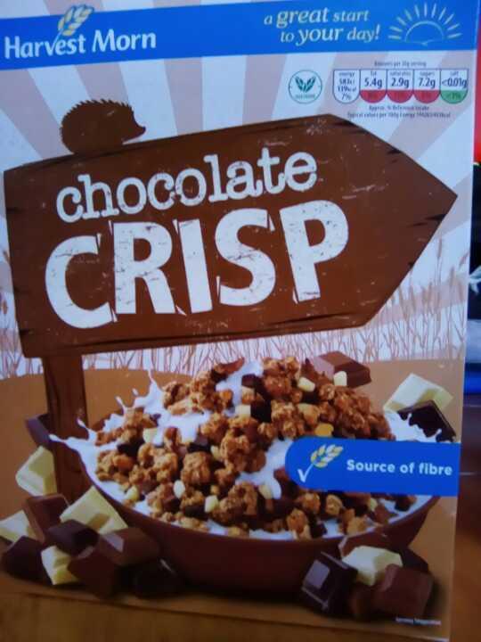 Harvest morn chocolate crisp breakfast cereal unopened