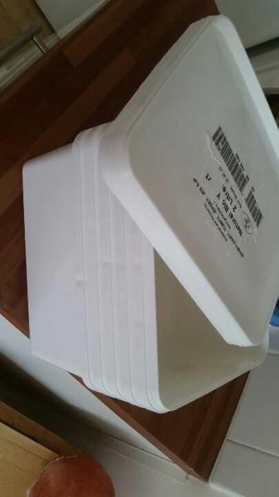 2l plastic tubs from Loaf/Big J
