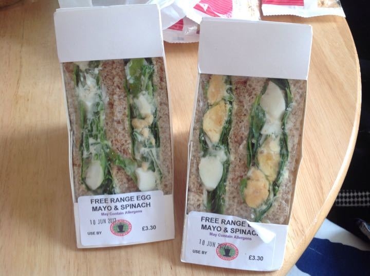 Free range egg sandwiches from Coopers & Co