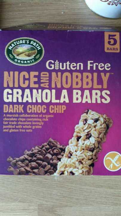 Gluten free chocolate ganola bars