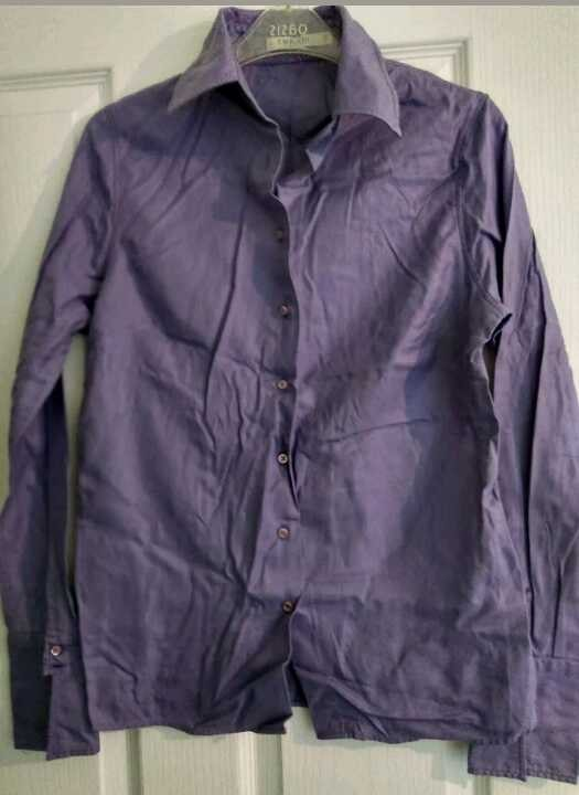 TM Lewin Purple Shirt Size 12